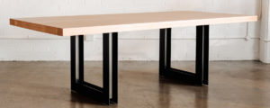 LivingRange - Que table with u-h iron base_web