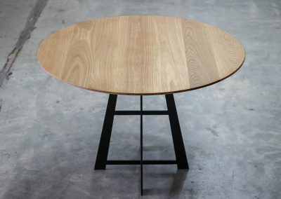 Designer dining table in American Oak