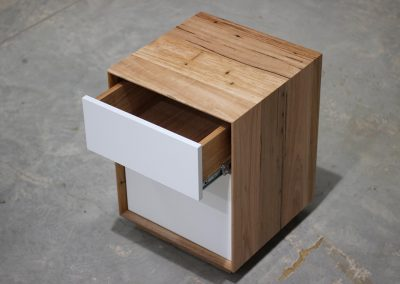 Two tone Wormy Chestnut bedside table